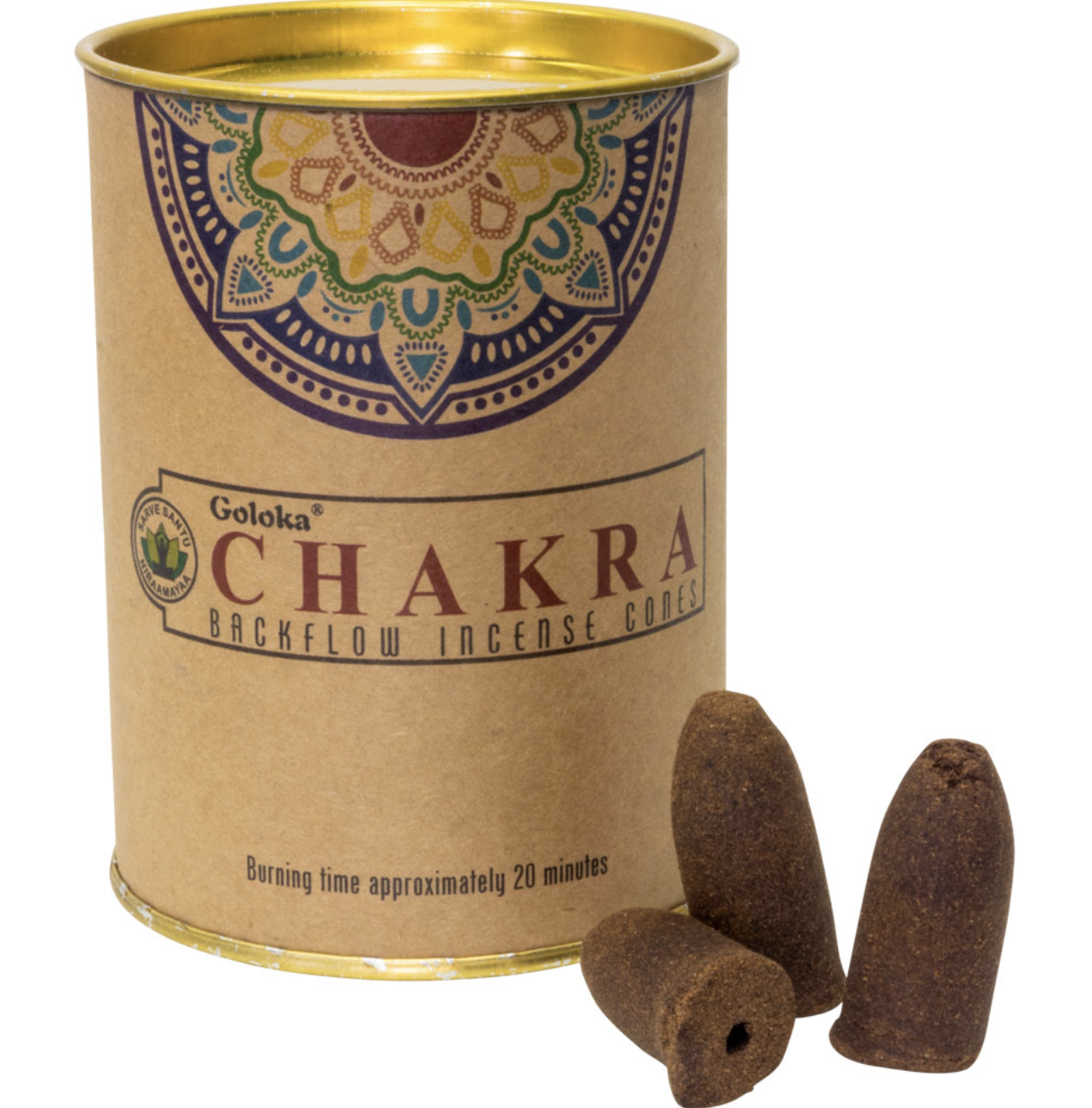 Goloka Chakra Backflow Incense Cones 24ct