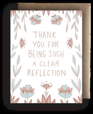 Maija Rebecca Hand Drawn Card - Clear Reflection