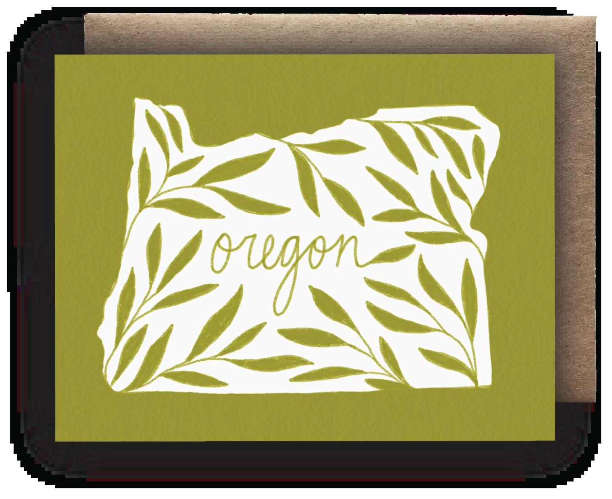 Maija Rebecca Hand Drawn Card - Oregon State
