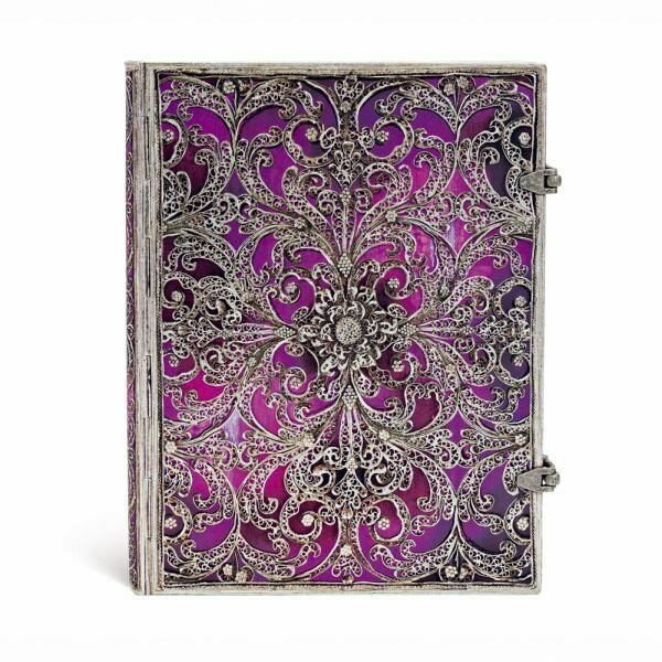 Large Journal - Silver Filigree with two latches by paperblanks
