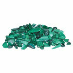 Malachite, tumbled chips