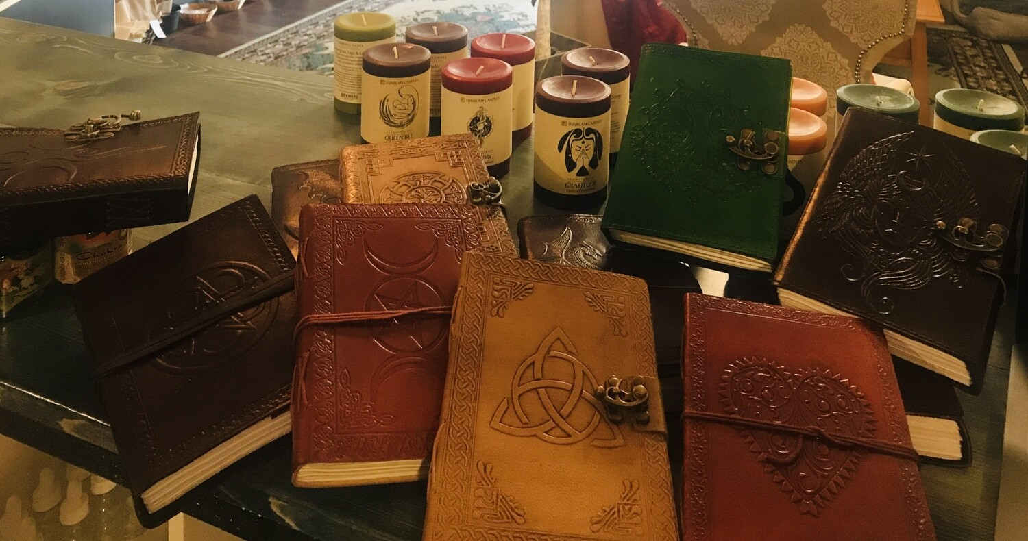 Tree Woman Leather Journal with Clasp