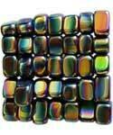 Magnetic Rainbow Hematite, tumbled stone