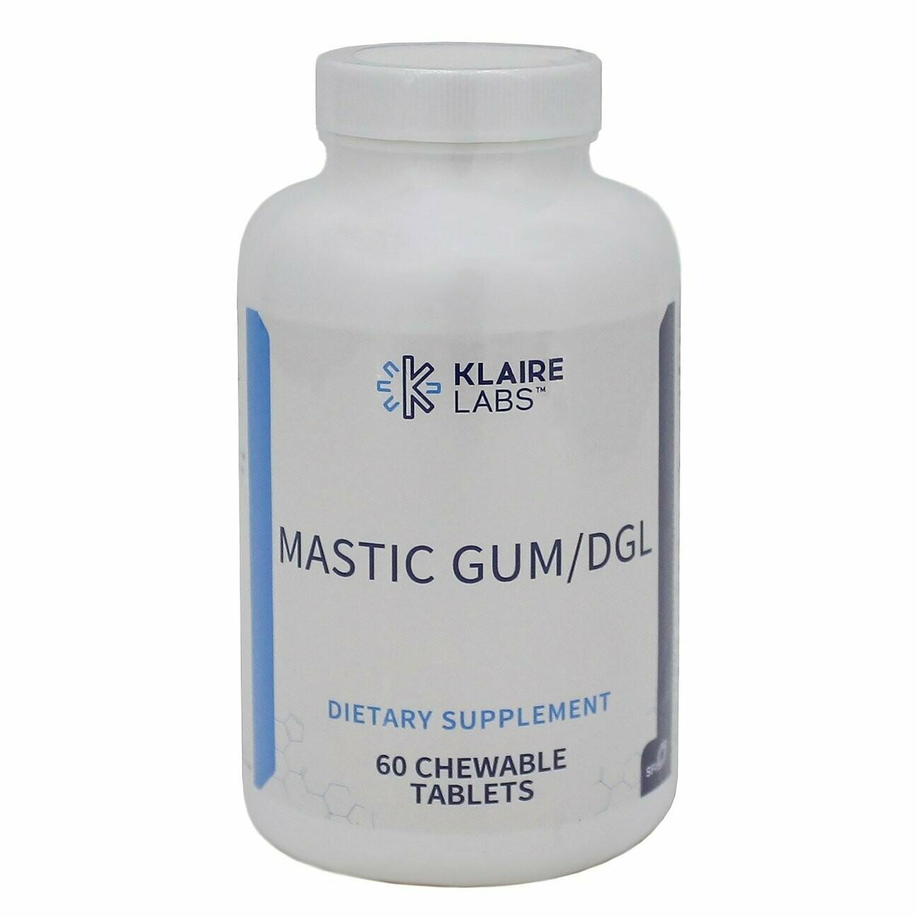 Mastic Gum/DGL by Klaire Labs 60ct