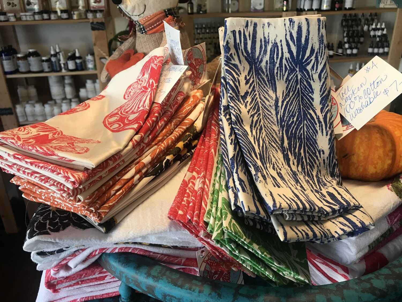 Feathers Cloth Napkin by Sunbird