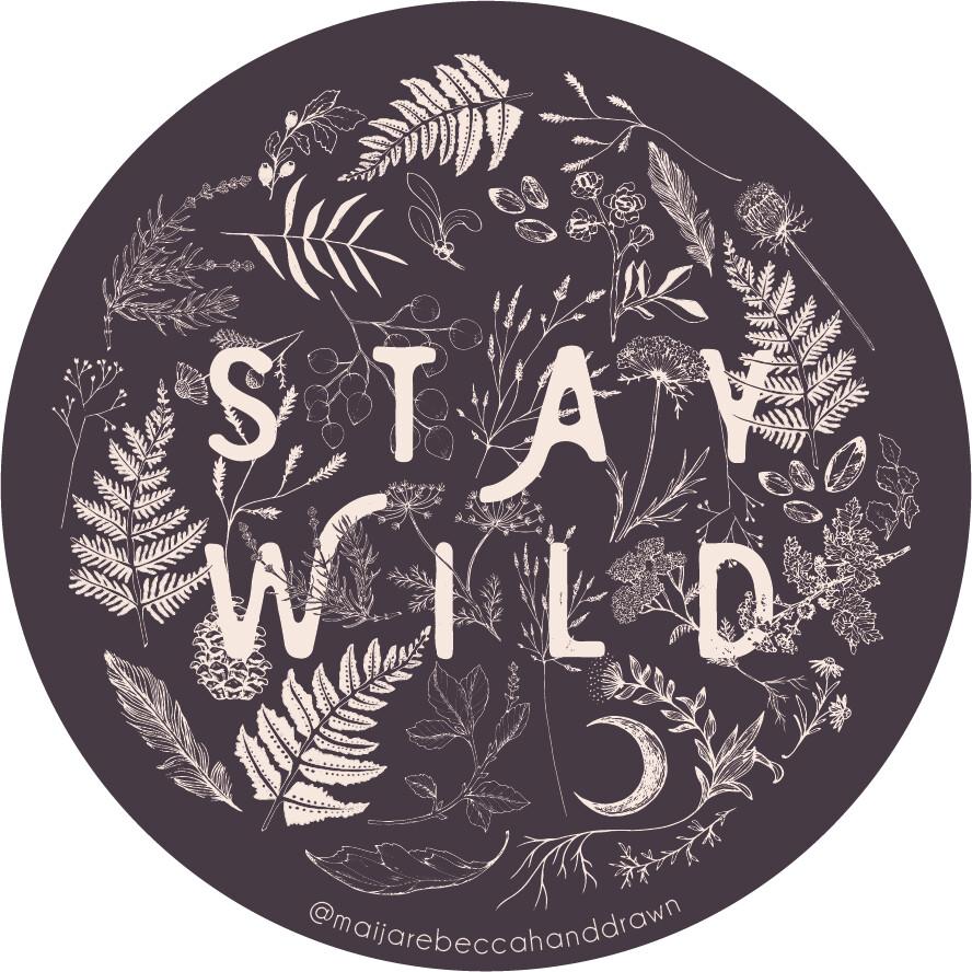 Maija Rebecca Hand Drawn Sticker - Stay Wild