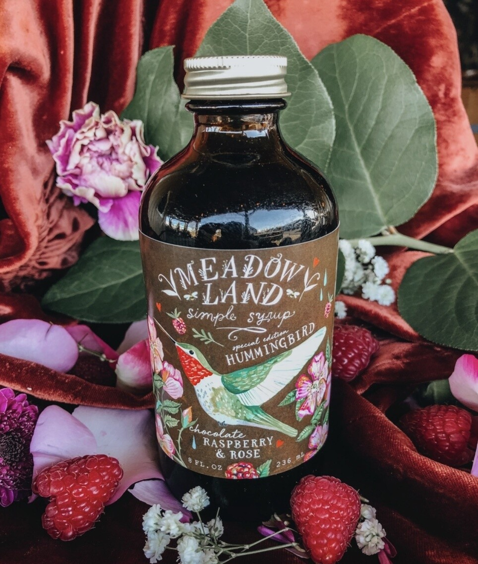 Chocolate Hummingbird Simple Syrup 8oz by Meadowland