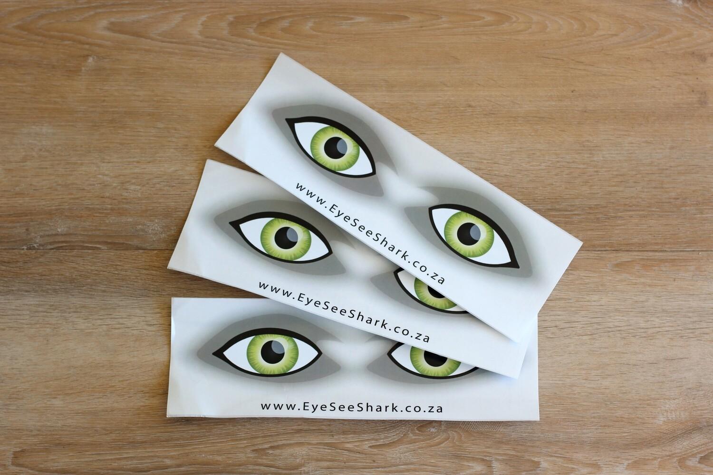 Green Eyes - Shark Deterrent Sticker Pack of 3