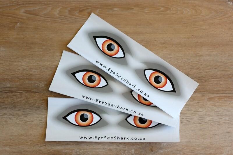 Orange Eyes - Shark Deterrent Sticker Pack of 3