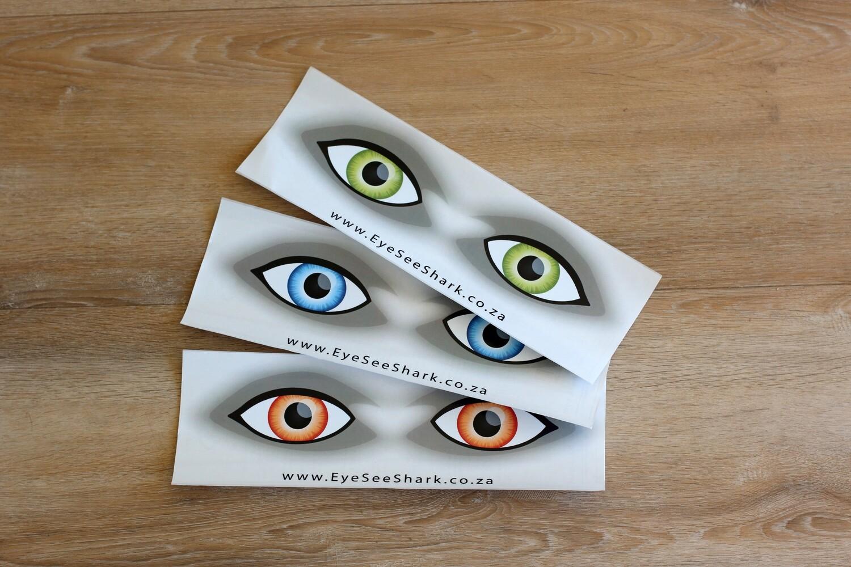 Mixed Colours - Shark Deterrent Sticker Pack of 3