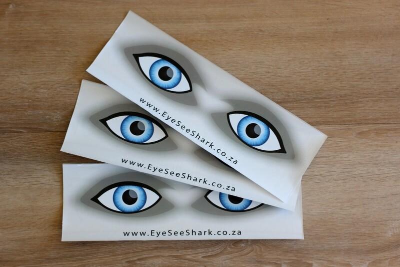 Blue Eyes - Shark Deterrent Sticker Pack of 3