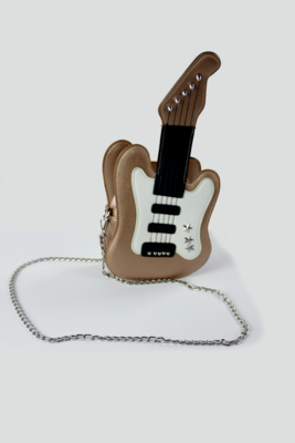 Gold Guitar Purse