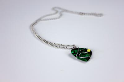 Tristan Green Guitar Pick Necklace