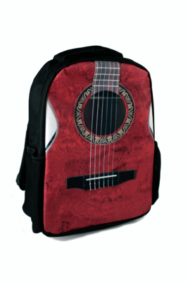 Red Guitar Backpack