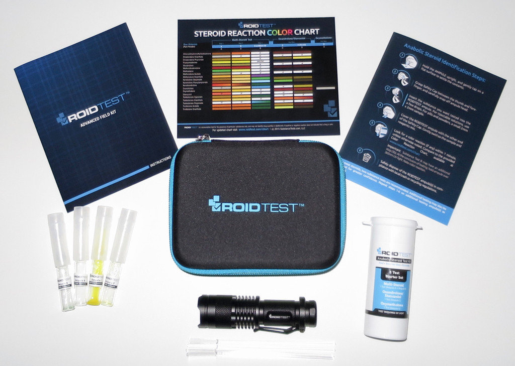 ROIDTEST Starter Set - a multi-test system for the identification of anabolic steroids.