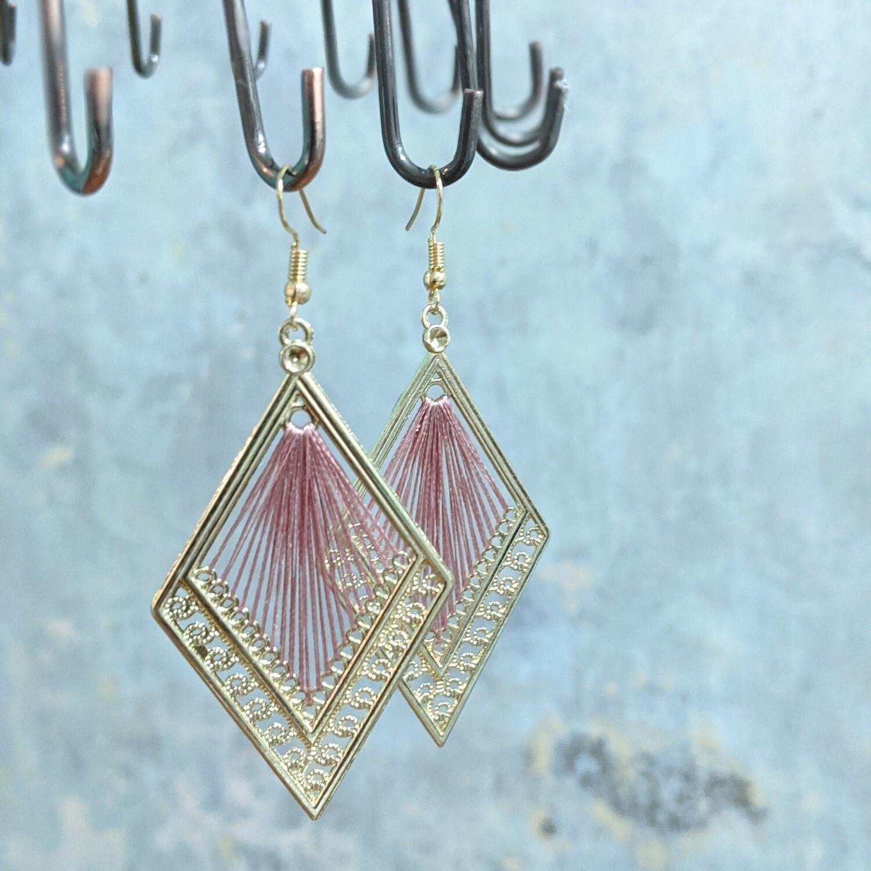 Earrings made by Amina