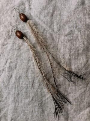 Emu feather Earrings