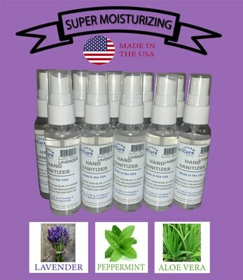 Lavender Mint Moisturizing Hand Sanitizer, 10 Pack