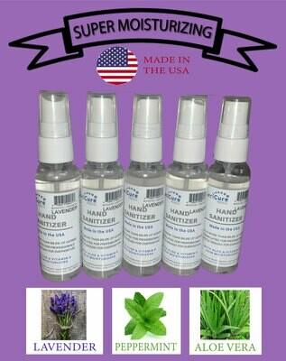Lavender Mint Moisturizing Hand Sanitizer, 5 Pack