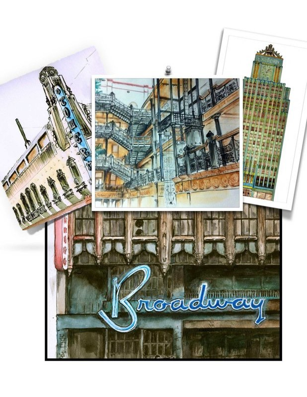 My Book - Illustrated tour of Broadway in Downtown Los Angeles