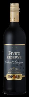FIVE'S RESERVE CABERNET SAUVIGNON - 6 x 750 ml