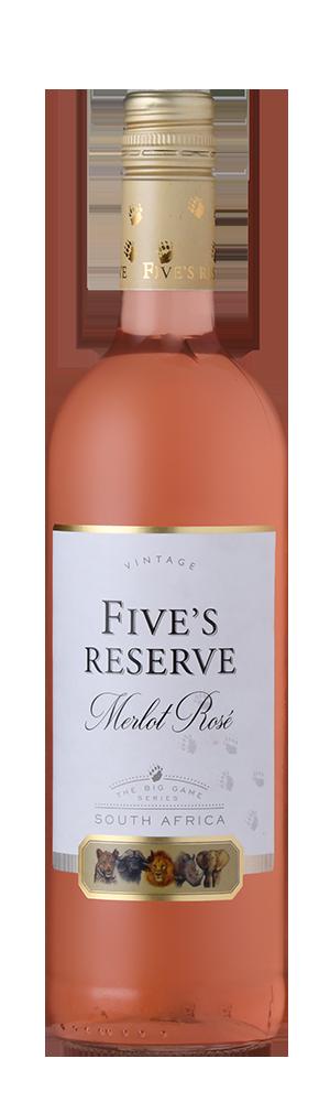 FIVE'S RESERVE MERLOT ROSÉ - 6 x 750 ml