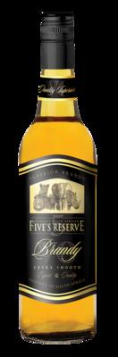 FIVE'S RESERVE BRANDY - 12 x 750ml
