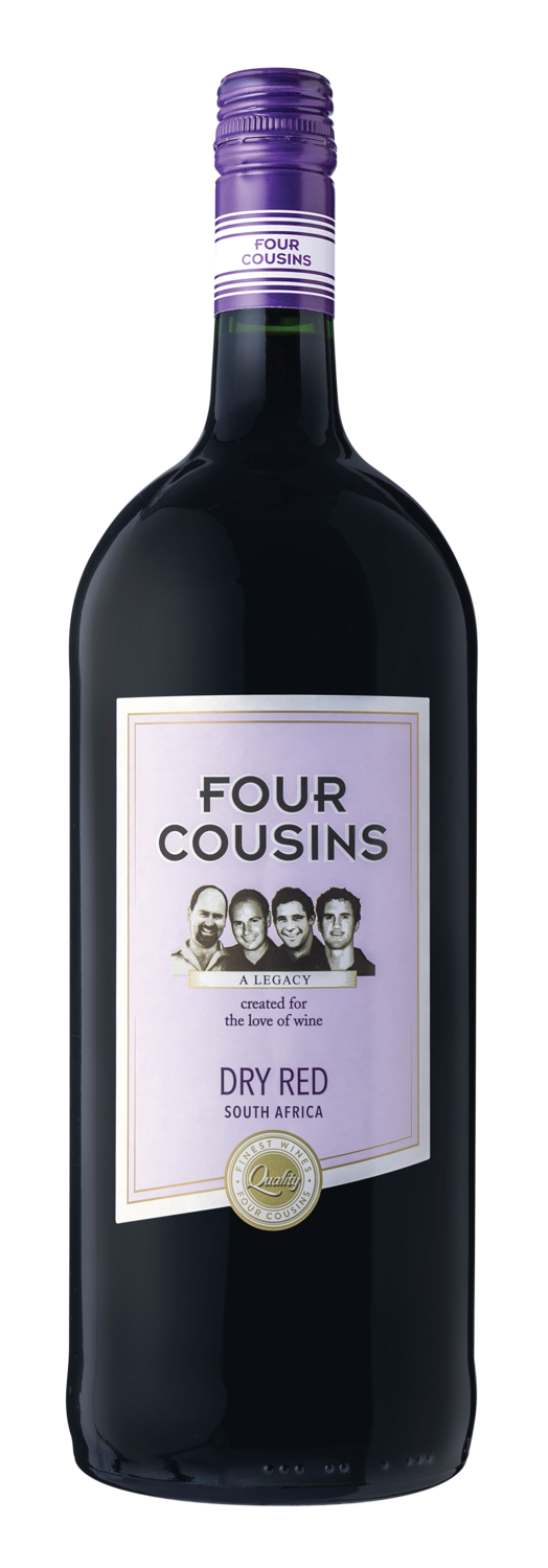 FOUR COUSINS DRY RED SINGLE 1.5L
