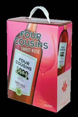 FOUR COUSINS NATURAL SWEET ROSÉ - 4 x 3L