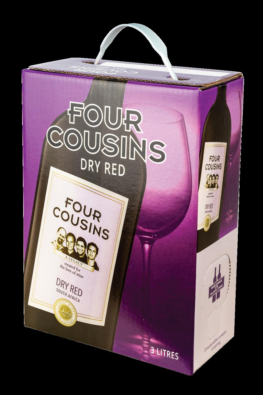FOUR COUSINS DRY RED - 4 x 3L