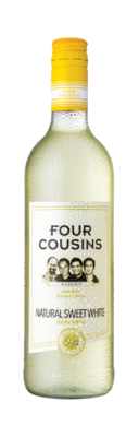 FOUR COUSINS NATURAL SWEET WHITE - 12 x 750ml