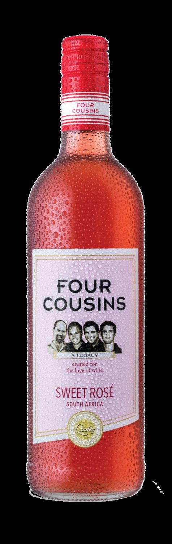 FOUR COUSINS NATURAL SWEET ROSE SINGLE 750ml