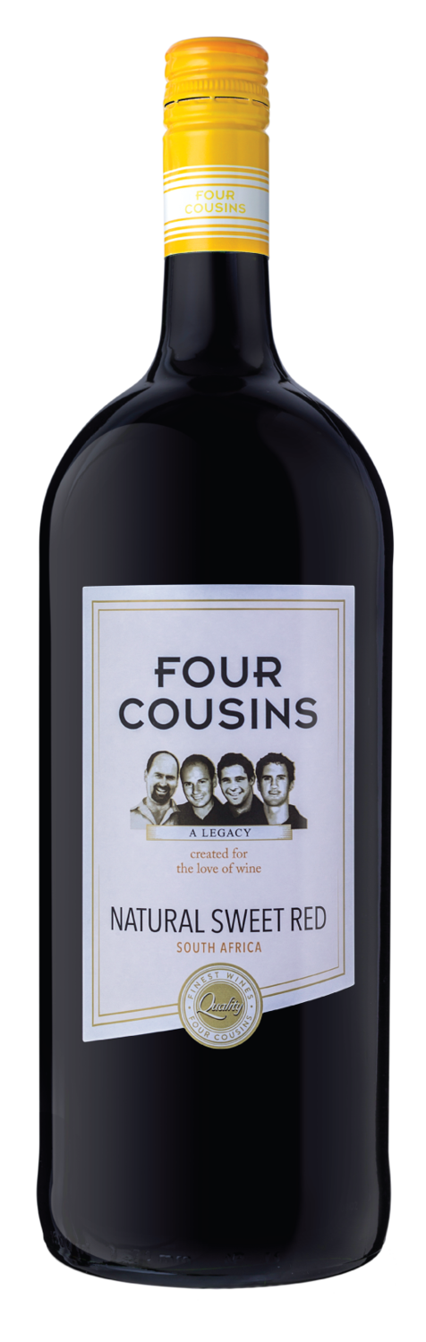 FOUR COUSINS NATURAL SWEET RED - 6 x 1.5L