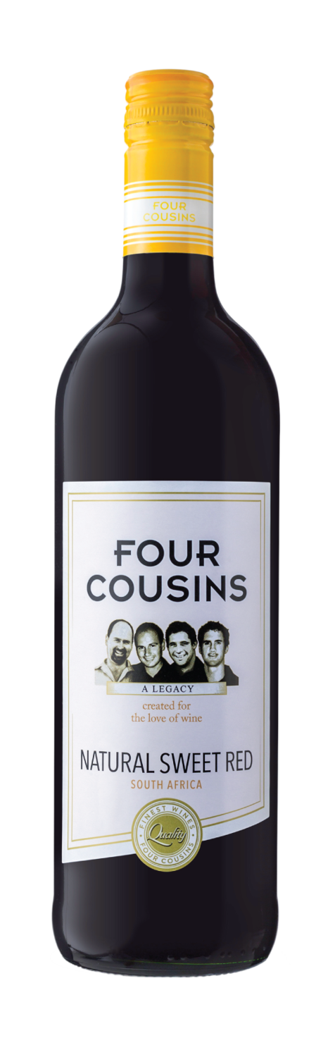 FOUR COUSINS NATURAL SWEET RED - 12 x 750ml