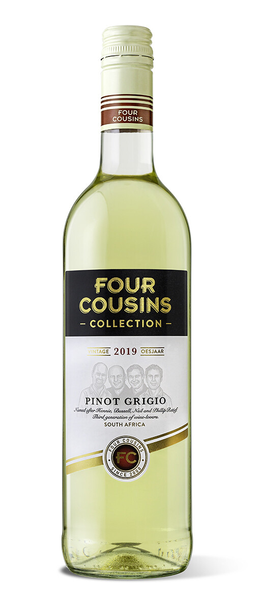 FOUR COUSINS COLLECTION PINOT GRIGIO - 6 x 750ml
