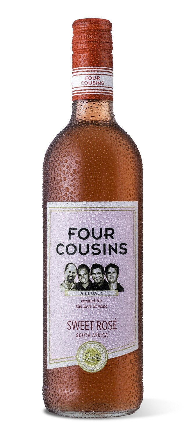 FOUR COUSINS NATURAL SWEET ROSÉ - 12 x 500ml