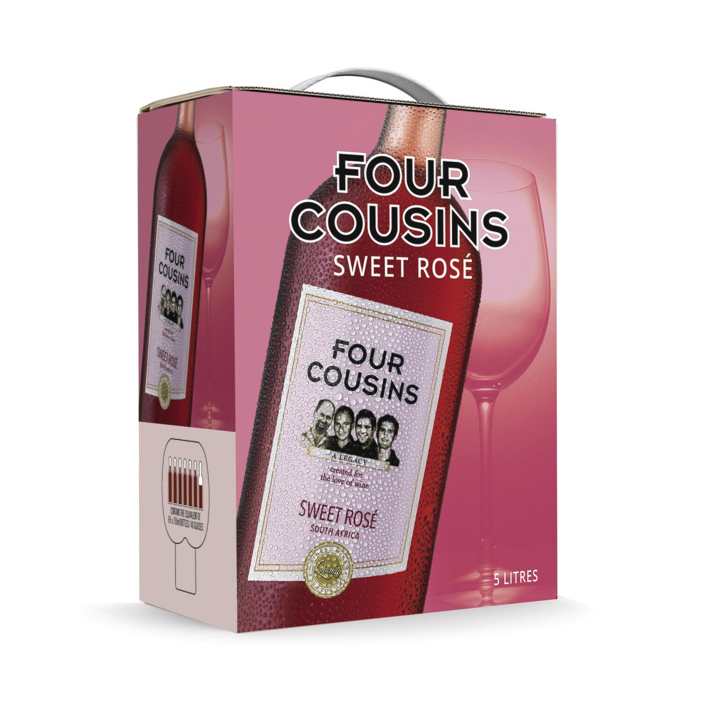 FOUR COUSINS NATURAL SWEET ROSE - 4 x 5L