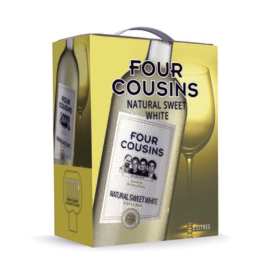 FOUR COUSINS NATURAL SWEET WHITE - 4 x 5L