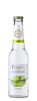 FREELY vodka, sparkling water & lime - 24 x 275ml