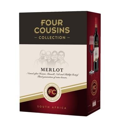 FOUR COUSINS COLLECTION MERLOT - 4 x 3L