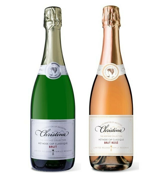 Christina Cap Classique & get 6 Bubbly glasses Free - 12 x 750ml