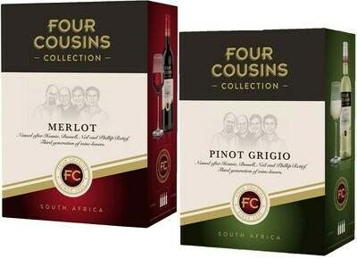 FOUR COUSINS COLLECTION PINOT & MERLOT - 4 x 3L