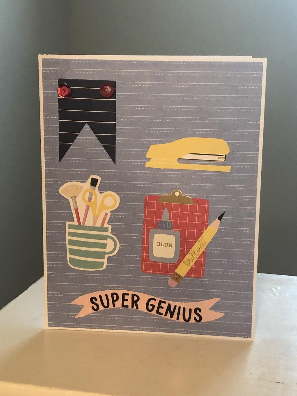 Super Genius Card and Envelope