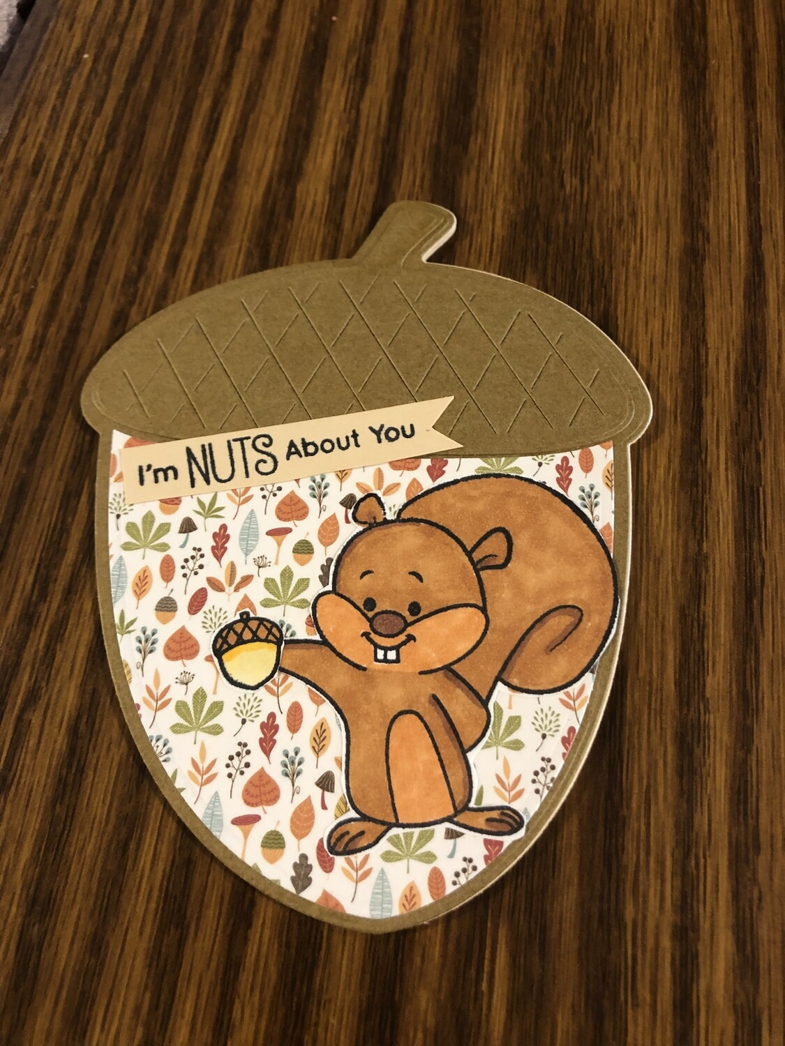 Nut and Squirrel Shaped Card