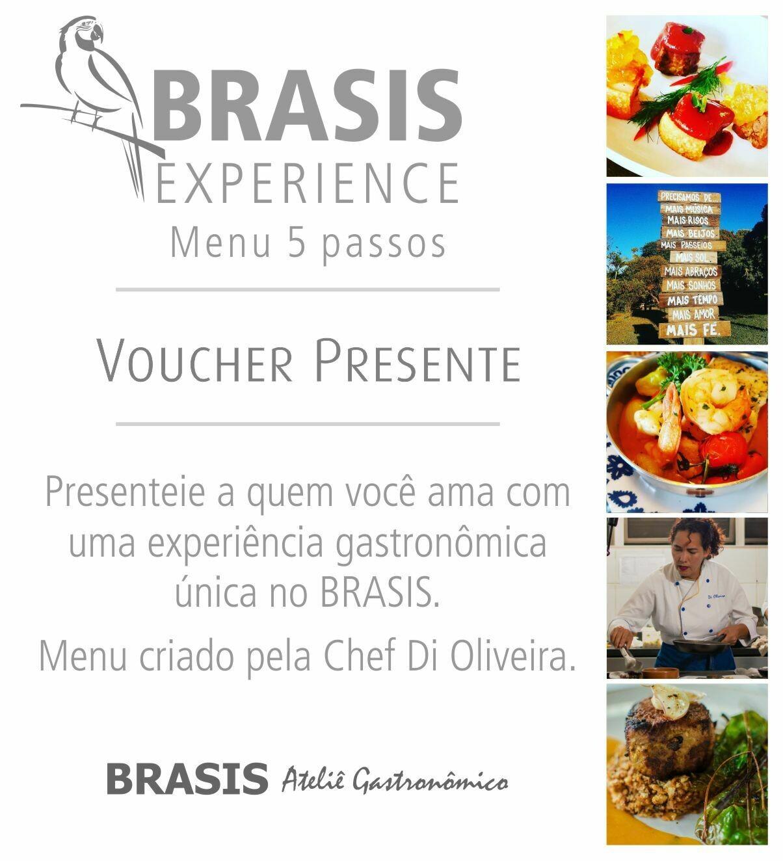 BRASIS EXPERIENCE - Menu Degustação 5 Passos