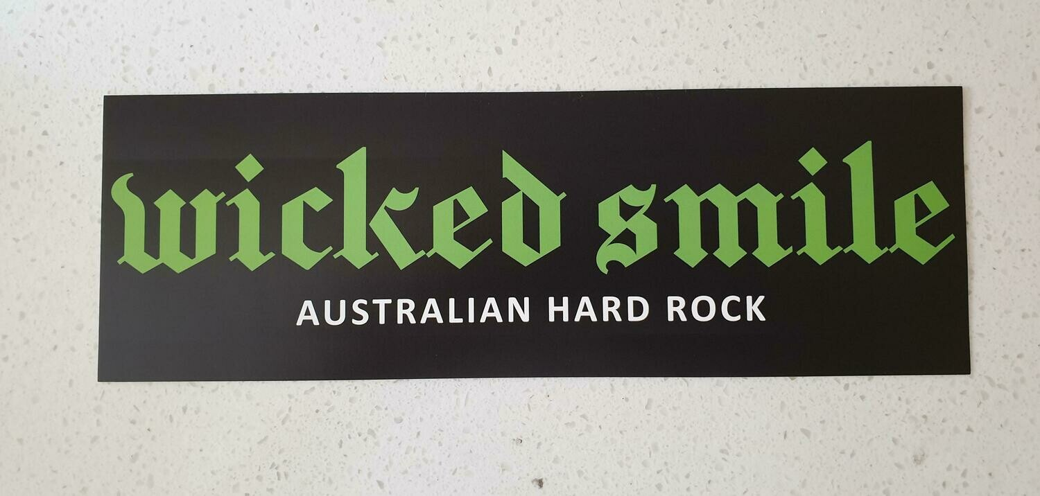 Wicked Smile car sticker (240x80mm OR 9.5 inches x 3.2 inches) Free Shipping