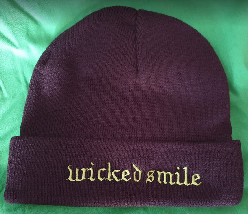 Wicked Smile beanie (black with green logo)