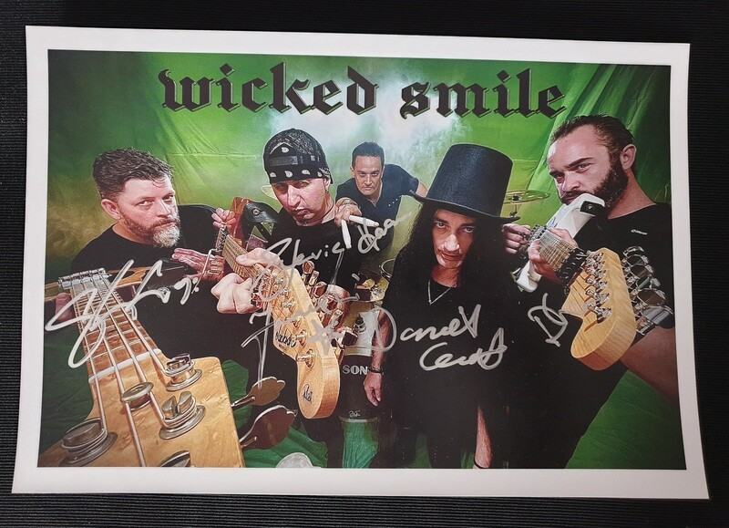 Wicked Smile signed band photo
