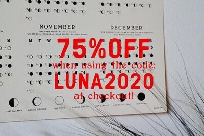 LUNAR CALENDAR 2020 OFFWHITE
