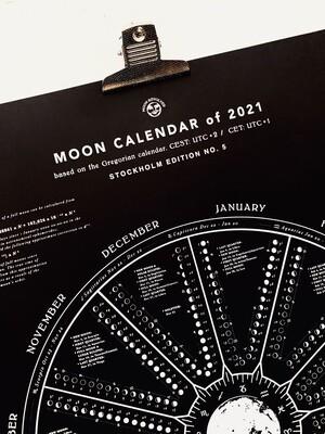 MOON CALENDAR 2021 BLACK